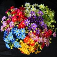 ingrosso fiori artificiali diretti-Fiori artificiali alla moda piccoli fiori artificiali margherita 12 colori Decorazioni per matrimoni casa creativa Vendita diretta in fabbrica 1 9ct X