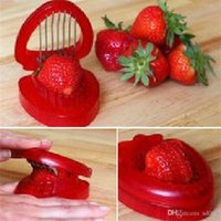 Wholesale slice ceramic online - Stainless Steel Strawberry Cutter Fruit Slitters Portable Slicing Tool Carving Decorative Cutter Kitchen Gadgets High Qulity qr Ww