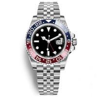 genf armbanduhren neue ankunft großhandel-2018 spätestes neues Modell-Luxus-Herrenuhr-Basel-rote blaue Pepsi automatische Luxus-Mann-Uhren-leuchtende Geschäfts-wasserdichte Uhr 30M