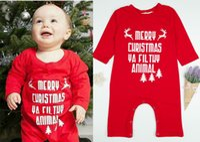 Wholesale newborn baby boys clothing online - Baby Christmas Jumpsuit Rompers Deerlet Newborn Baby Boy Girl Designer Long Sleeves Buckle Merry Christmas Ya Fil Tuy Animal Clothes Tree