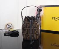 marka f toptan satış-Fadi Marka Kova Çanta Mini Tasarımcı Çanta Kova FF Desen Marka Lüks Çanta Yüksek Kalite Moda F Ünlü Çanta Çanta