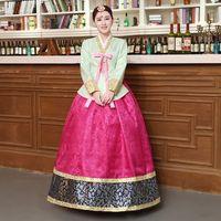 bf6bdc3d1 hanbok dresses Canada - New Style Woman Elegant Korean Traditional Costume  Minority Dance Performance Clothing Female