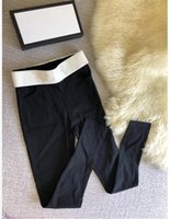 Wholesale brands yoga pants online - Designer Women Pencil Pants S XXXXXL Plus Size Luxury Brand Letters Running Pencil Leggings Pants Streetwear Yoga Legging C774