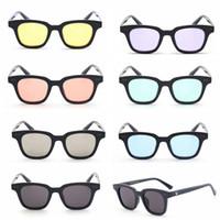 Wholesale color frame clear glasses wholesale - Square V South Sunglasses Women Men Retro Designer Plastic Frame fashion Sun Glasses Black Red Lens Shades UV400 GGA136 10PCS