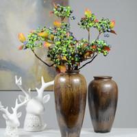 high end künstliche blumen großhandel-59 cm High-end-produkt Dekorative Blaubeerfrucht-beere Künstliche Blume Seidenblumen Obst Für Hochzeit Dekoration Künstliche Pflanzen