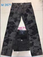 Wholesale Bleach Coat - Free Shipping High quality hot Mens Robin Rock Revival Jeans Crystal Studs Denim Pants Designer Trousers Men's size 30-40 2671