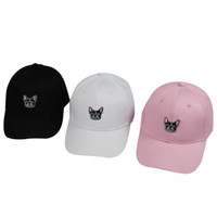 chapéus de snapback da coreia venda por atacado-12 pçs / lote unisex coréia estilo boné de beisebol das mulheres dos homens chapéu buldogue impresso snapback chapéu hip hop cap