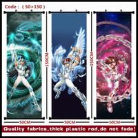 anime gehängt großhandel-Anime / Heilige Seiya seiya / Shiryu / Hyoga / Shun / Ikki / Athena Schönes hängendes Bild / Poster / Stoffmalerei / Wandbild