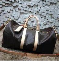 Wholesale Mens Tote Bag Zipper - Keepall Travel Luggage Bag Damier Graphite PU Leather Handbag Men Travel Bags Mens Travel Totes Bag Mens Duffle Bag 55CM