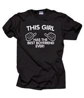 sevgililer için en iyi yılbaşı hediye toptan satış-En Iyi Erkek Arkadaşı Hiç T-Shirt Yıldönümü Noel Hediyesi Kız Arkadaşı Için Tee