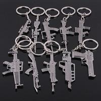 Wholesale counter strike guns resale online - counter strike Fivesevem pistol Keychain weapon model gun Keychain alloy cm Llavero Chaveiro jewelry