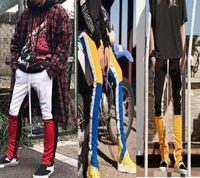 Wholesale Cotton Track Pants Men - Best 2018 Fear Of God FOG Justin Bieber side zipper casual sweatpants men hiphop jogger track pants Sportwear S-XL