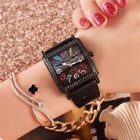 weiblicher stahlgürtel großhandel-MOBANGTUO Mode Damenuhr Digitale Lässige Weibliche Uhr Platz Ledergürtel Wasserdichte Frauen Uhr Edelstahl