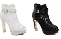 açık bot çizgileri toptan satış-Yaz takozlar sandalet kadın ayakkabı kadın platformu ayakkabı dantel düz açık ayak Deri Dantel Iplik Ağız Çizmeler Nefes Ayakkabı 11.5 CM topuklu