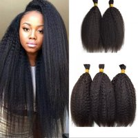 Wholesale yaki braiding hair for sale - Peruvian Kinky Straight Bulk Human Hair for Braiding Bundles Coarse Yaki Natural Hair Bulk No Extensions FDshine