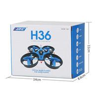 helicóptero 2.4ghz al por mayor-1pcs venta! JJRC H36 Mini Drone 2.4GHz 6 ejes RC Micro Quadcopters con abejones en modo sin cabeza volando helicóptero para el regalo del niño