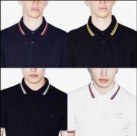 kısa kollu polo şort erkek toptan satış-Yeni marka Yaz Erkekler Polo FRED Marka Nakış Gömlek Kısa Kollu Turn-aşağı Yaka Polo Giyim Erkek Moda Casual Polo S-3XL Tops