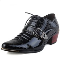 ingrosso scarpe alte in oxford-Scarpe casual da uomo di lusso Tacco alto Scarpe eleganti da lavoro Scarpe oxford con punta maschile Scarpe oxford per uomo Scarpe in pelle da uomo