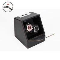 Wholesale fiber modes - Wholesale-New Arrival P0078-CF Carbon Fiber Multi Modes Watch Storage box Automatic Watch Winder