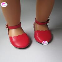 amerikanische babyschuhe großhandel-Mode spitzen Schuhe für 18 Zoll 45cm American Girl Zapf Baby geboren Puppe Zubehör