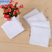 Wholesale Branded Handkerchiefs - Brand New High Quality 100% cotton 40*40cm male table satin handkerchief towboats square handkerchief whitest Men Hand kerchief
