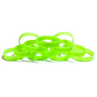 силиконовый светлый темный браслет оптовых-Customzed Light Green Glow-in-the-Dark Wristbands Blank Wristbands Bracelets Silicone Rubber Wristband Glow-in-the-Dark Bracelet