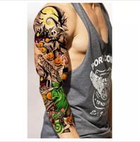 gefälschte tätowierungen sexy großhandel-3pcs Wasserdicht Temporäre Tattoos Aufkleber für Body Art Flash Tattoo Ärmel Sexy Produkt Gefälschte Metallic Tattoos Transfer Aufkleber