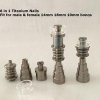 çivi fabrika fiyatı toptan satış-Fabrika fiyat Kuvars Ti Titanyum çivi düz 10mm 20mm 16mm 6 1 erkek kadın için mevcut 14mm, 18mm, 10mm joit enail Dnail kitleri