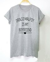 Wholesale Boyfriend Tee Shirt - Draco Malfoy is My Boyfriend Letters Print Women tshirt Cotton Casual Funny t shirt For Lady Top Tee Hipster Drop Ship