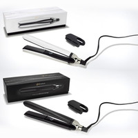 Wholesale plugged hair straightener for sale - Group buy 9hd platinum Professional hair straightener Black white color EU UK plug with retail box DHL fast ship IN stock