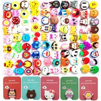 Wholesale cartoon phones for sale - Cartoon Cell phone Holder stand bracket Degree Rotation Expandable D Grip Clip Air bag for iphone x samsung android phone