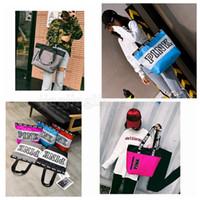 Wholesale personalized girls bag - Pink letter handbag personalized casual shoulder bag portable super large capacity shopping bag love pink travel storage 20pcs MMA141