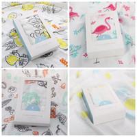Wholesale Bath Robes Children - 4 Colors 120*120cm Ins Baby Muslin Swaddles Wraps Flamingo Blanket Nursery Quilt Robes Bedding Newborn Ins Swadding Bath Towel CCA8583 10pcs