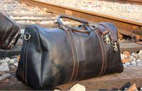 sac de voyage pour femme achat en gros de-54CM grande capacité femmes sacs de voyage 2019 vente qualité hommes épaule sacs polochons portent sur bagage keepall rivets bas avec tête de verrouillage