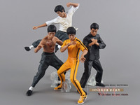 Wholesale new kung fu - Free Shipping Cool Bruce Lee Kung Fu Pvc Action Figures Toy 4pcs  Set New In Box Otfg070