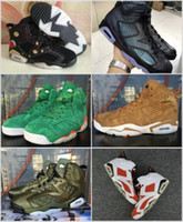 Wholesale woman chinese shoes - High 6 Gatorade Green Basketball Shoes CNY Chinese New Year Chameleon For Men Women 6s Wheat Brown Black White Red Sneakers Size 36-47