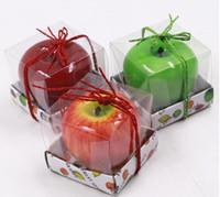 ingrosso forme di candele-Candele di frutta a forma di mela Candela profumata Festival Festival Decorazione romantica Festa di Natale Vigilia di Capodanno Decorazione gratuita