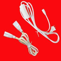 Wholesale black power cord online - T8 T5 LED Integrated fluorescent Lamp Tube wire US plug Connector Prong US Plug AC Power Cord Cable Charge Adapter White or black