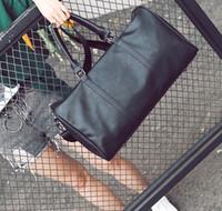 eski deri bagaj toptan satış-Sıcak 2019 erkek kadın seyahat çantası PU Deri spor çantası marka tasarımcı bagaj çanta büyük kapasiteli spor çanta