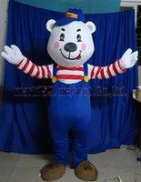 ingrosso vendite di giocattoli adulti-La dimensione adulta di trasporto libero della mascotte del costume della mascotte dell'orso, il partito di lusso di carnevale del giocattolo della peluche della mascotte dell'orso amabile celebra le vendite della fabbrica della mascotte.
