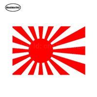 drapeau orange jaune marron achat en gros de-20pcs / lot en gros autocollants de voiture au Japon soleil levant drapeau de Wakaba de bande dessinée drapeau de la fenêtre de voiture de voiture carrosserie de vinyle autocollant noir / argent etc. 15 * 10 cm
