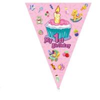 ingrosso gattino orso-All'ingrosso- ciao Kitty / Orso Bandiere appesi Bandiere Ragazze Ragazzi Decorazione festa di compleanno forniture festa di compleanno bandiera bandiera pennant di carta