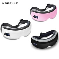 Wholesale wireless digital music - Wireless Digital Eye Massager with Heat Compression Air Pressure Music & Eye Care Stress Relief Goggles Masajeador De Ojos