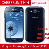 Wholesale gsm phone android wifi - 2016 Original Unlocked Samsung Galaxy I9082 Mobile Phone GSM 3G WIFI GPS Dual sim cards 8MP Camera Refurbished Cell phone
