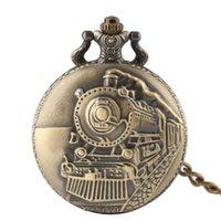 женские часы оптовых-Мода прибытие ретро античный карманные часы бронзовый паровоз карманные часы лучший подарок для женщин мужчин