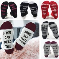Wholesale Beer Socks - Men Women Funny Socks Words Letter Printed Socks If You Can Read This Bring Me a Beer Cotton Casual Socks 18 Colors OOA3861