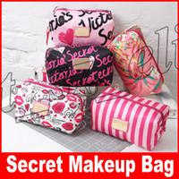sacos impressos animais venda por atacado-Marca secreta Multifuncional grande capacidade de maquiagem saco de Higiene Organizador de Maquiagem primavera sacos de impressão para as mulheres de Lavar Roupa