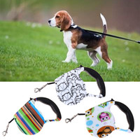 Wholesale Dog Lead Hands - 3M Pet lead Retractable Dog Leash Walking Leads Automatic One-handed Lock Dog Traction Rope Leashes 12 Colors DDA424