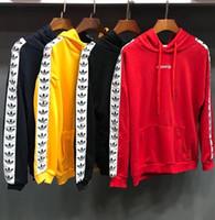 hoodie vermelho dos homens do desenhista venda por atacado-Novo designer vermelho rosa yeezus kanye moletom com capuz Y 3 homens propósito turnê hoodies camisola Hoodies Casual Streetwear Jogger Treino