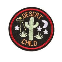 parches bordados de niños al por mayor-6 CM coser hierro en el parche de bordado cactus del desierto parches insignias bordadas para el bolso de los pantalones vaqueros sombrero camiseta Apliques de bricolaje decoración artesanal